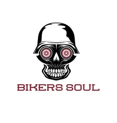 Bikers soul concept with skull vector