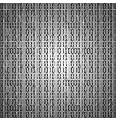 Flat binary code screen table cypher vector
