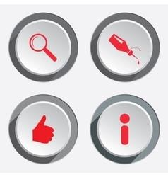 Web info icons kursor like hand target repair fix vector