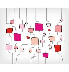 retro abstract design vector image