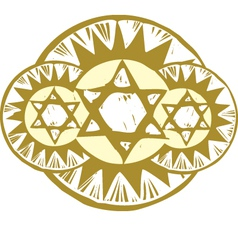 3 Star of David vector image