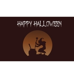 Happy halloween witch backgrounds vector