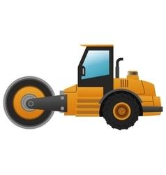 Steamroller machine icon vector