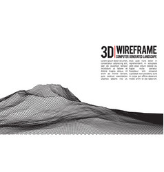 abstract wireframe landscape background vector image vector image