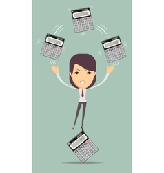 Accountant holding calculator vector image vector image
