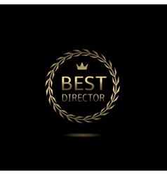 Best director award vector image vector image