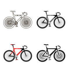Bicycle icon cartoon single sport icon from the vector