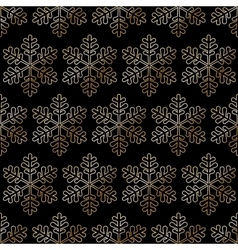 black snowflake background vector image