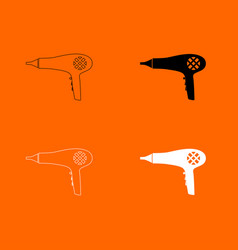blow dryer hair dryer icon vector image vector image
