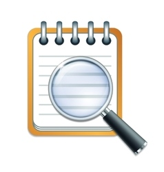 check list and magnifying glass vector image vector image