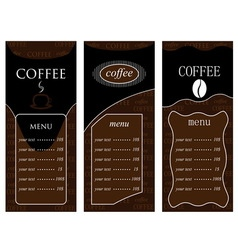 Coffee templates 2 vector image
