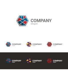 Colorful business template logo vector image vector image
