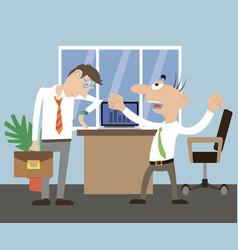 director scolds employee vector image vector image