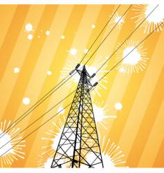 Electricity pylon vector