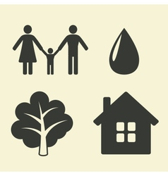 environmental protection icons vector image