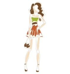 Fashionable girl vector image