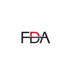 fda letter logo vector image vector image