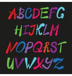 Handwriting stylish alphabet vector image