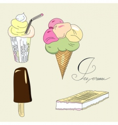 ice-cream collection vector image