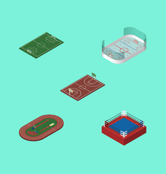 Isometric training set of ice games fighting b vector