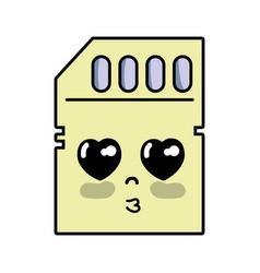 Kawaii cute tender micro sd vector