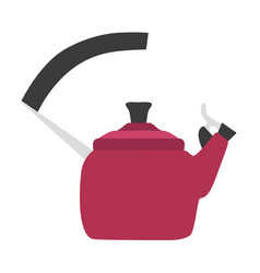 Kettle tea design top stove steam kitchen vector