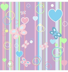 Kid baby butterfly card vector image