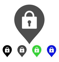 Locker marker flat icon vector