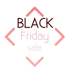Logo black friday sale vector