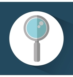 Lupe media search design vector