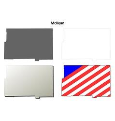 Mckean map icon set vector
