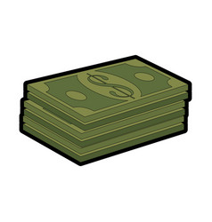 Money bills icon vector