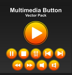Multimedia button pack image vector
