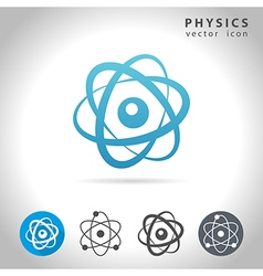 physics icon set vector image vector image