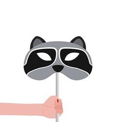Raccoon Mask vector image