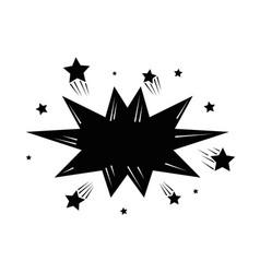 retro burst icon vector image