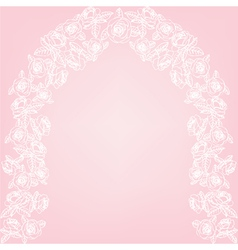 Roses arch vector