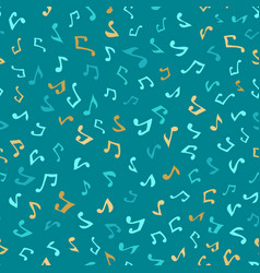 seamless blue music pattern vector image