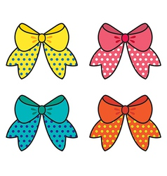 Set Of Colorful Bow vector image vector image