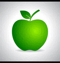 Sketched green apple design stock vector