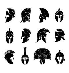 Spartan helmet set vector