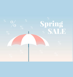 Spring sale colorful banner vector