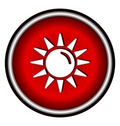 Sun flat icon on white background vector image vector image