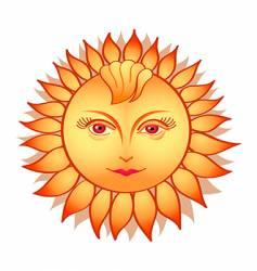 sun woman vector image vector image