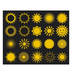 sunssuns - elements for design vector image vector image