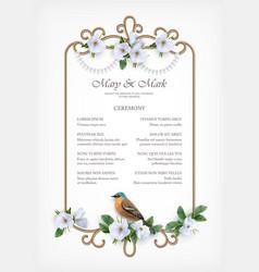 Wedding decorative frame vector