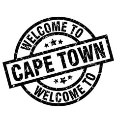 Welcome to cape town black stamp vector