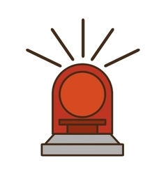 Siren light red isolated icon vector
