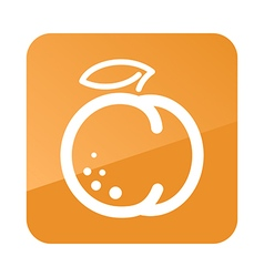 Peach outline icon fruit vector