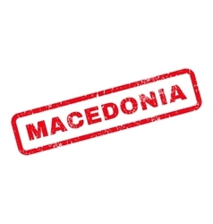Macedonia text rubber stamp vector